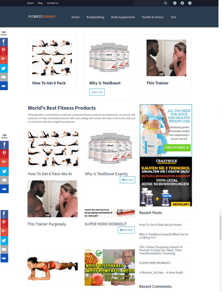 Health & Fitness Store