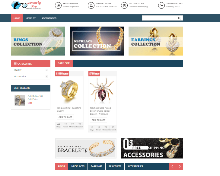 Jeweller Website Ecommerce Store