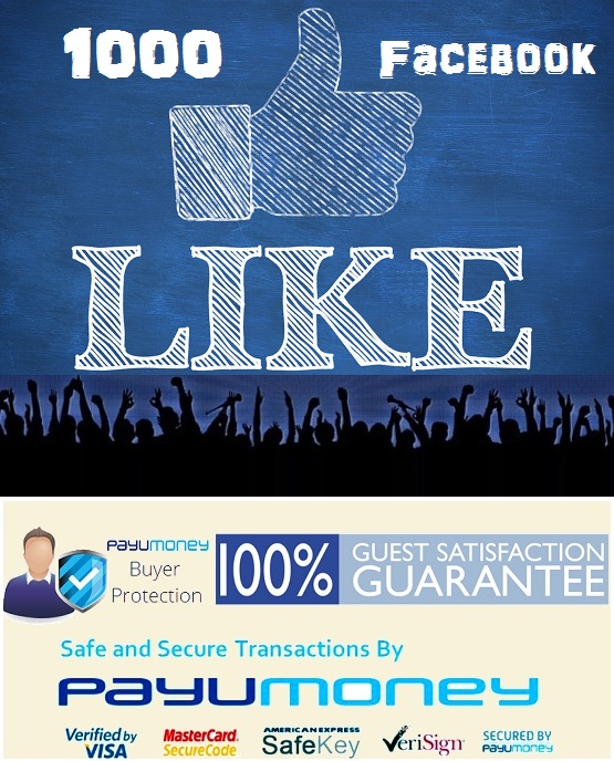 Buy Facebook Likes India and FB Followers -1000